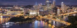 Header - Pittsburg Bridge at Night